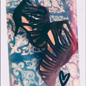 Mesh Nine West heels